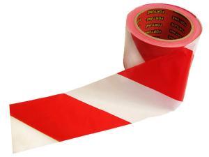 Лента сигнальная оградительная (красно-белая) 50х100м