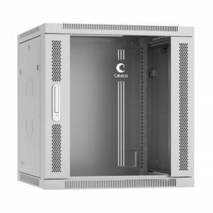 """CABEUS SH-05F-12U60/45 Шкаф телекоммуникационный настенный 19"""" 12U 600x450x635mm  дверь стекло"""