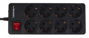 Сетевой фильтр IPPON BK-238, 3м, черный