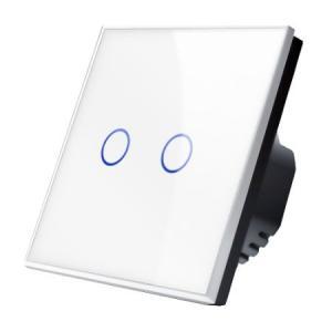 Сенсорный выключатель света двухкнопочный Optimus TS2(b)-3000