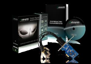 Плата захвата Линия AHD 4x25 Hybrid IP