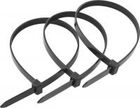Стяжка кабельная 300*4,8 мм (черная) упак