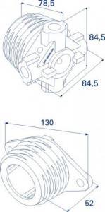 Окончание пружины M50, DH12003