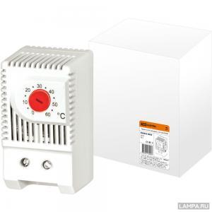Термостат NС (обогрев) на DIN-рейку 10А 230В