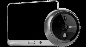 Wi-Fi дверной глазок с ответной станцией Ezviz CS-DP1-A0-4A1WPFBSR/SilverMetallic