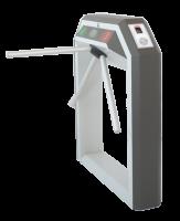 Тумбовая сетевая электронная проходная «STR-04FM» со встроенным биосканером