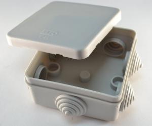 Распред.коробка для Гофра-трубы о/п 85x85x40мм