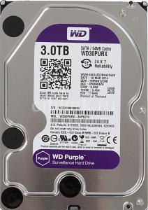 Жесткий диск WD Purple WD30PURX, 3Тб
