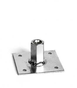 Шайба с муфтой 60х60х4.0 мм, 4 отв., гайка М8